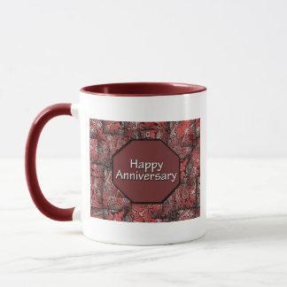 Glücklicher Jahrestag Tasse