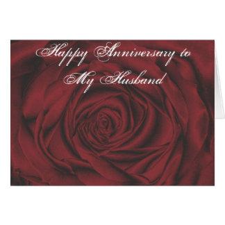 Glücklicher Jahrestag zu meiner Ehemann-Karte Karte