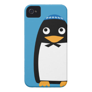 Glücklicher jüdischer PinguinYarmulke Chanukkas iPhone 4 Hülle