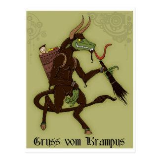 Glücklicher Krampus Tag! Postkarten