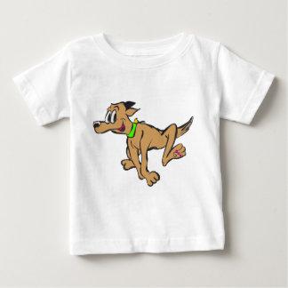 Glücklicher laufender Hundekundengerechter Baby T-shirt