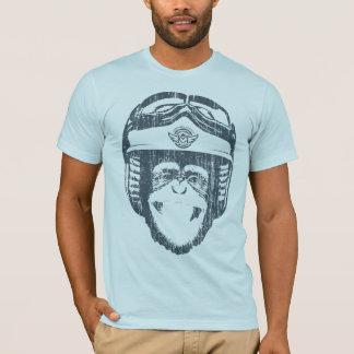 Glücklicher Moto Affe (Vintager Schiefer) T-Shirt