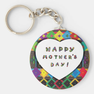 Glücklicher Mutter-Tag Keychain Schlüsselanhänger