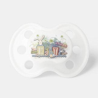 Glücklicher Osterhasen-Baby-Schnuller Schnuller