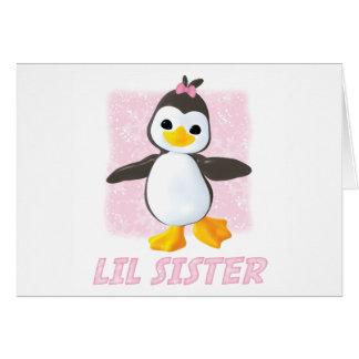Glücklicher Pinguin-kleine Schwester Karte