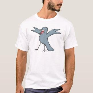 Glücklicher Raben-Vogel-Cartoon T-Shirt