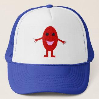 Glücklicher rote Trauben-Hut Truckerkappe