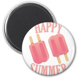 Glücklicher Sommer Runder Magnet 5,7 Cm