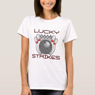 Glücklicher Streik-Bowling T-Shirt