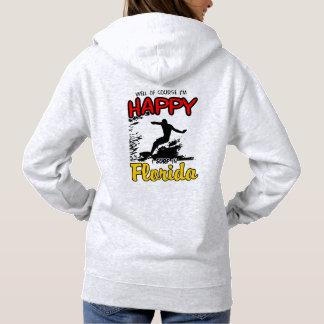 Glücklicher Surfer FLORIDA (Schwarzes) Hoodie