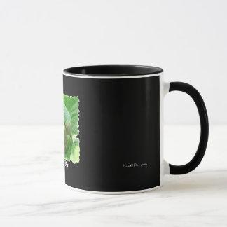 Glücklicher Tag - grüner Frosch auf Blatt Tasse