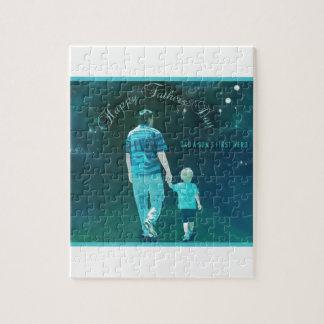 Glücklicher Vatertag, erster Held Puzzle