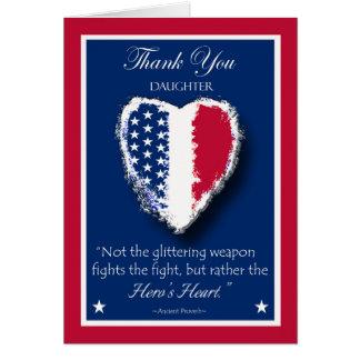 Glücklicher Veteranen-Tag für Tochter, das Herz Karte