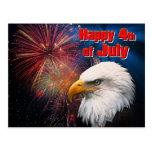 Glückliches 4. der vom 1. Juli Postkarte