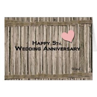 Glückliches 5. Hochzeitstag Karte
