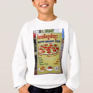 Glückliches Angkor Pizza-Zeichen Sweatshirt
