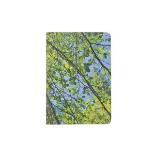 Glückliches Baum-Blätter Passhülle
