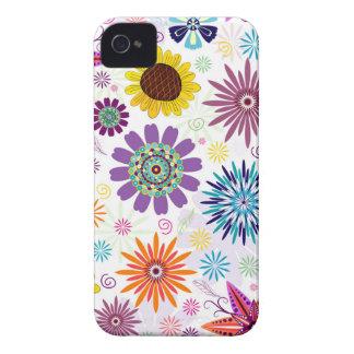 Glückliches Blumenmuster iPhone 4 Case-Mate Hülle