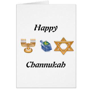 Glückliches Chanukkah Karte