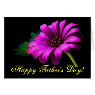 Glückliches der Vatertags-lila rosa Gänseblümchen