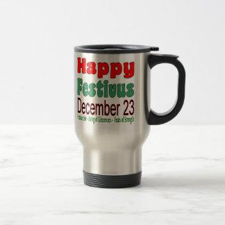 Glückliches Festivus am 23. Dezember 15 Unze. Reisebecher
