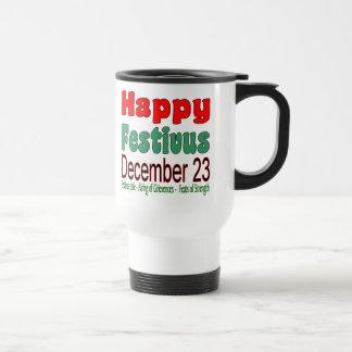 Glückliches Festivus am 23. Dezember 15 Unze. Weiß Reisebecher