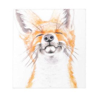 Glückliches Foxy Notizblock