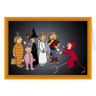 Glückliches Halloween scherzt Party Karte