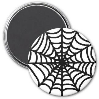 Glückliches Halloween-Spinnen-Netz Runder Magnet 7,6 Cm