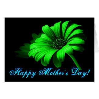Glückliches hellgrünes Gänseblümchen der Mutter