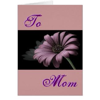 Glückliches hellpurpurnes Gänseblümchen der Mutter