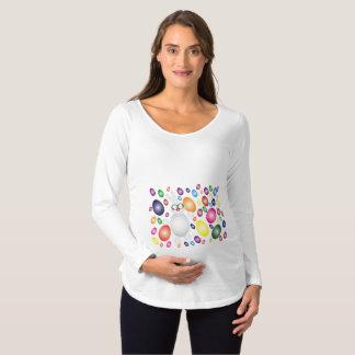 Glückliches kerngesundes schwangerschafts T-Shirt