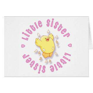 Glückliches Küken-kleine Schwester Karte