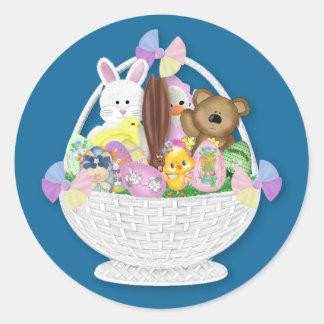 Glückliches Osterhasen-Ei Runder Aufkleber