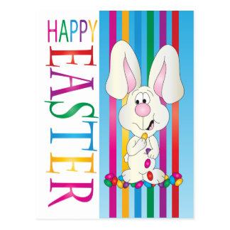 Glückliches Ostern-Geleebonbon-Häschen Postkarten