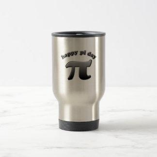 Glückliches PU-Tagespu-Symbol für Mathe-Nerds am Reisebecher