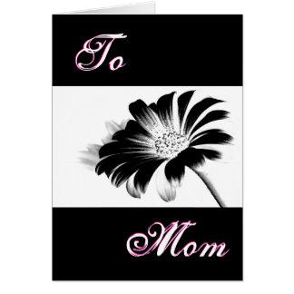 Glückliches Schwarz-Gänseblümchen der Mutter