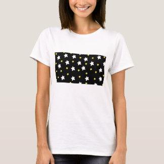 Glückliches Stern-Schwarzes T-Shirt