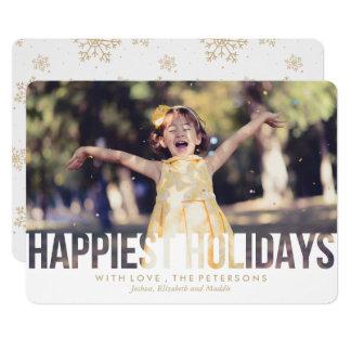 Glücklichster Feiertags-Weihnachtsgruß 12,7 X 17,8 Cm Einladungskarte