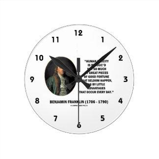 Glücks-Vorteils-Zitat Benjamin Franklins Uhr