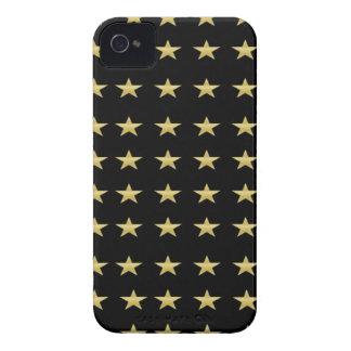 Glücksstern-Schwarzes mit Goldstern-Entwurf iPhone 4 Hülle