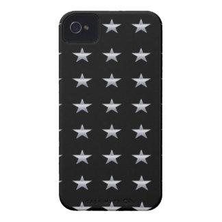 Glücksstern-Schwarzes mit silbernem Stern-Entwurf iPhone 4 Hülle