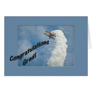 Glückwunsch-Absolvent-Schulstudenten-Flugzeug Karte