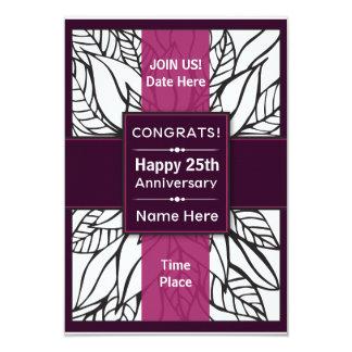 Glückwunsch/glücklicher Jahrestag laden ein 8,9 X 12,7 Cm Einladungskarte