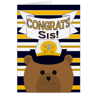 Glückwunsch-Marine-Schwester/SIS Grußkarte