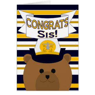 Glückwunsch-Marine-Schwester/SIS Karte