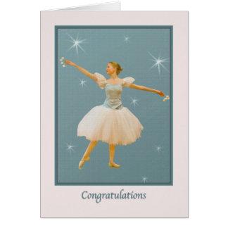 Glückwünsche auf Ballett-Tanz-Erwägungsgrund Karte