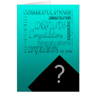 Glückwünsche auf Ihrem Abschluss #1 kundengerecht Grußkarte