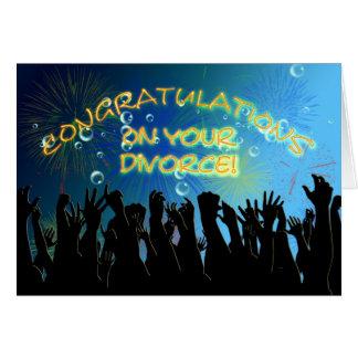 Glückwünsche auf Ihrer Scheidung Grußkarte