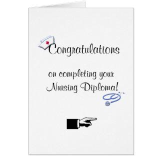 Glückwünsche auf Krankenpflege Diplom-Spaß Karte